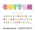 cartoon colorful font for kids. ... | Shutterstock .eps vector #1524473477