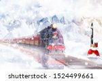 Christmas express in the snowy...