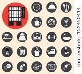 hotel icons set | Shutterstock .eps vector #152450414