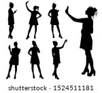 young girl taking selfie and...   Shutterstock .eps vector #1524511181