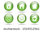 home vector glossy button icon. ...