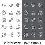 set of people management... | Shutterstock .eps vector #1524518021
