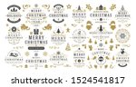 christmas and happy new year... | Shutterstock .eps vector #1524541817