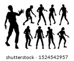 male zombie standing and...   Shutterstock .eps vector #1524542957