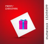 red merry christmas vector... | Shutterstock .eps vector #152454599