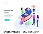 reception desk landing page... | Shutterstock .eps vector #1524550844