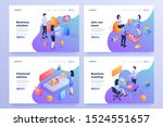 staff teamwork isometric... | Shutterstock .eps vector #1524551657
