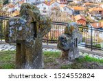 Ancient Stone Crosses At The...
