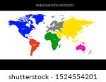 the world map is divided by... | Shutterstock .eps vector #1524554201