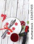 christmas table setting | Shutterstock . vector #152457455