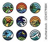 landscape art colour... | Shutterstock .eps vector #1524579884