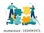 business concept. team metaphor.... | Shutterstock .eps vector #1524591971