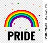 pride gay logo with rainbow... | Shutterstock .eps vector #1524608441