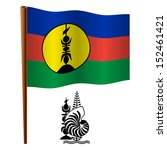 new caledonia wavy flag and... | Shutterstock . vector #152461421