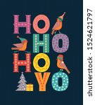 christmas holiday decoration.... | Shutterstock .eps vector #1524621797