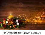 Advent Wreath With Burning...
