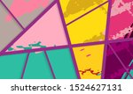 abstract collage asymmetric... | Shutterstock .eps vector #1524627131