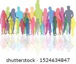 family of silhouettes. vector... | Shutterstock .eps vector #1524634847