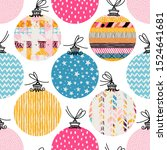 seamless pattern. christmas... | Shutterstock .eps vector #1524641681