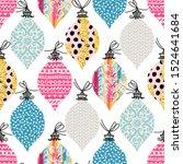 seamless pattern. christmas... | Shutterstock .eps vector #1524641684