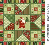Seamless Christmas Patchwork...