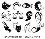 zodiac signs | Shutterstock .eps vector #152467445