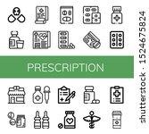 set of prescription icons. such ...   Shutterstock .eps vector #1524675824