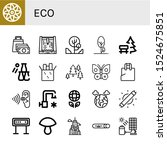 set of eco icons. such as... | Shutterstock .eps vector #1524675851