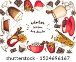 hot drinks for design. mulled... | Shutterstock .eps vector #1524696167