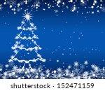 christmas vector background | Shutterstock .eps vector #152471159