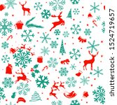 christmas seamless background... | Shutterstock .eps vector #1524719657