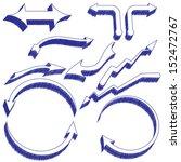 a set of pen drawn design... | Shutterstock .eps vector #152472767