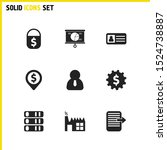 work icons set with personal...
