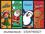 set of graphics for christmas... | Shutterstock .eps vector #1524740327