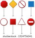 street sign set white...   Shutterstock .eps vector #1524756341