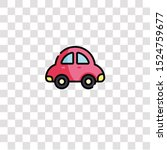 toy car icon sign and symbol.... | Shutterstock .eps vector #1524759677