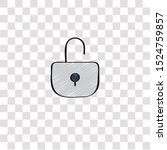 open lock icon sign and symbol. ...