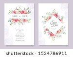 wedding card with beautiful... | Shutterstock .eps vector #1524786911