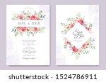 beautiful hand drawn roses... | Shutterstock .eps vector #1524786911