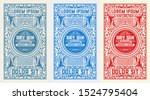 antique  label with gin liquor... | Shutterstock .eps vector #1524795404