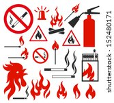 set of fire vector icons on...