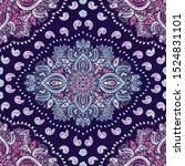 indian rug tribal ornament... | Shutterstock .eps vector #1524831101