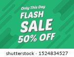 modern flash sale banner for...   Shutterstock .eps vector #1524834527