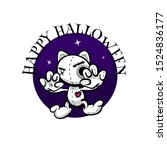 cute evil angry cat halloween... | Shutterstock .eps vector #1524836177