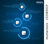 modern infographics template ... | Shutterstock .eps vector #152485019