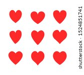 vector hearts icons set... | Shutterstock .eps vector #1524851741