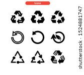 recycling icon isolated sign... | Shutterstock .eps vector #1524881747