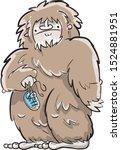 Stock photo cute bigfoot illustration cartoon big foot 1524881951