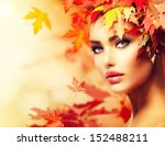 Autumn Woman Portrait. Beauty...