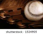Baseball And Glove Sepia